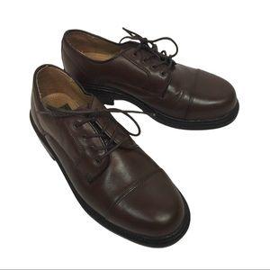 NUNN BUSH Brown Leather Oxford Shoes 7.5